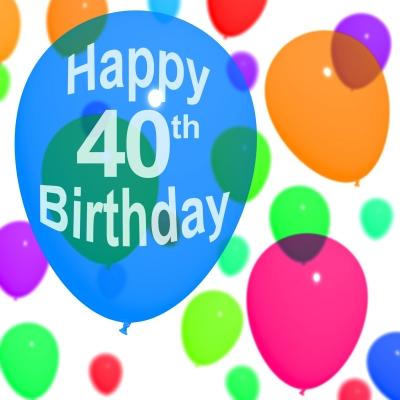 40 birthday balloon by Stuart Miles